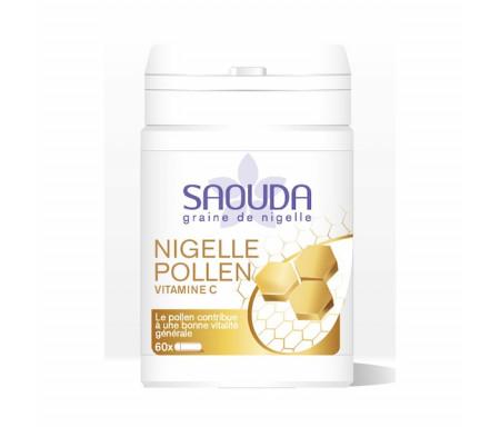 Nigelle Pollen : 60 gélules de Nigelle cryobroyée avec Pollen et Vitamine C
