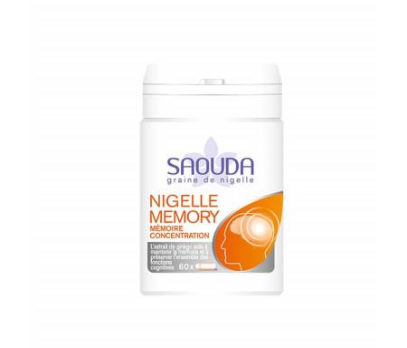 Nigelle Memory : 60 gélules de Nigelle cryobroyée avec Ginkgo, Vitamines et Zinc