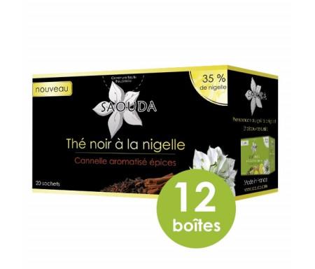 Thé Noir à la Nigelle - Canelle aux Aromes d'Epices - Boite de 20 Sachets