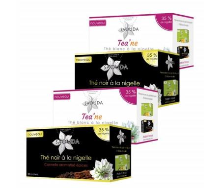 Pack 2 Boites de Thé noir + 2 Boites de Thé blanc