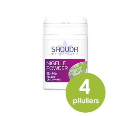 Pack de 4 x Nigelle Powder : 60 gélules de Nigelle cryobroyée (poudre de nigelle)