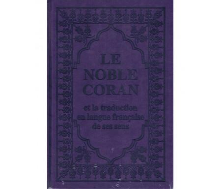 Traduction des Sens du Saint Coran-Arabe et Français couleur Violet