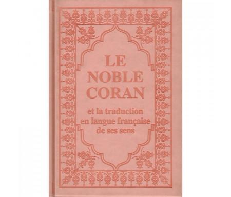 Traduction des Sens du Saint Coran-Arabe et Francais couleur Rose