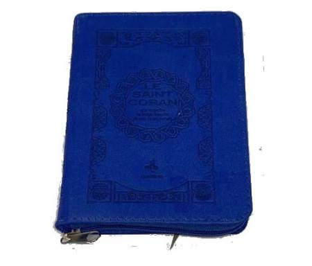 Saint Coran Français Pochette (11x15 Cm) - Couverture Bleue Electrique