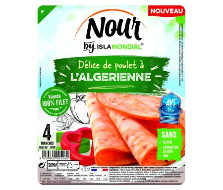 Délice de Poulet Halal à l'Algérienne certifié AVS 120gr (4 tranches) - Isla Mondial