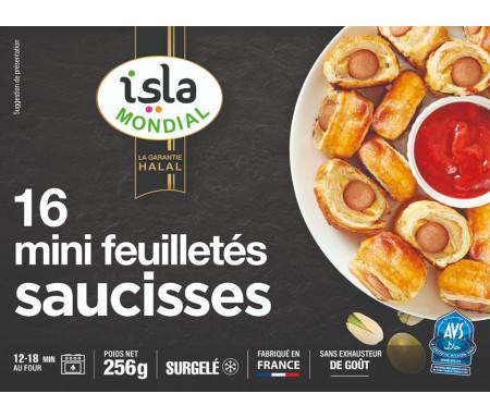 16 Mini feuilletés saucisses 256g