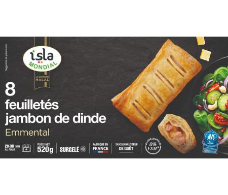 8 Feuilletés jambon de Dinde Halal emmental 520g