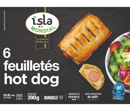 6 Feuilletés Hot Dog de Saucisse de volaille Halal 390g