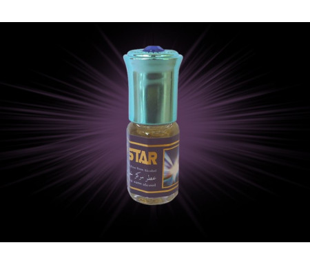 """Parfum concentré sans alcool Musc d'Or """"Top Star"""" (3 ml) - Pour hommes"""