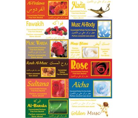 Pack de 12 parfums Musc d'Or 3 ml pour femmes