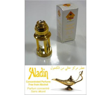 """Parfum concentré Musc d'Or """"Aladin"""" mixte - En bouteille dorée 4 colonnes avec boite"""