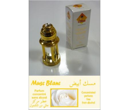 """Parfum concentré Musc d'Or """"Musc Blanc"""" mixte - En bouteille dorée 4 colonnes avec boite"""
