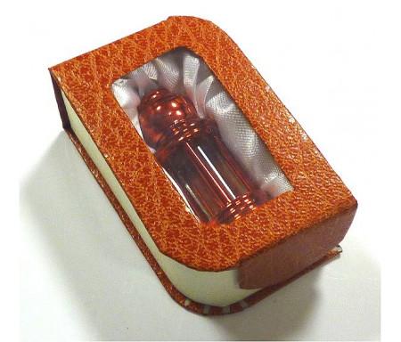 """Parfum concentré Musc d'Or """"Red Musk"""" en bouteille rouge et boite cadeau"""