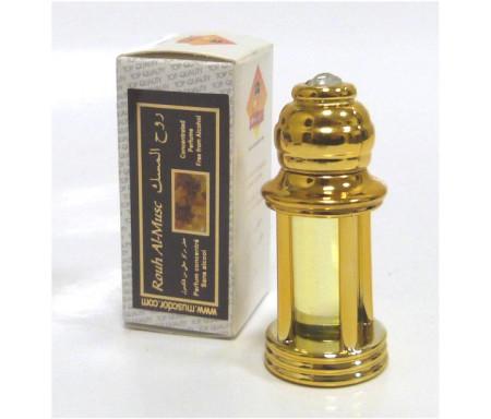 """Parfum concentré Musc d'Or """"Rouh Al Musc"""" en bouteille dorée"""