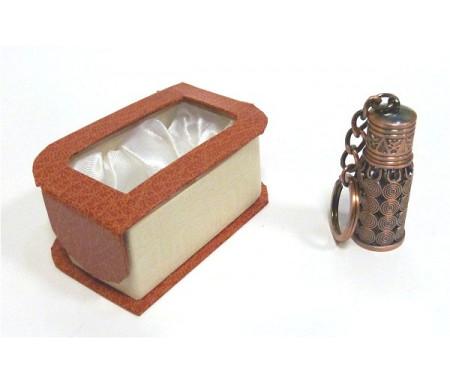 """Parfum concentré sans alcool Musc d'Or """"Arabesque"""" - Mixte - Porte clé métallique cuivré"""