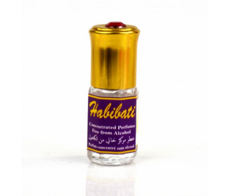 """Parfum concentré sans alcool Musc d'Or """"Habibati"""" (3 ml) - Pour femmes"""