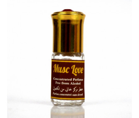 "Parfum concentré sans alcool Musc d'Or ""Musc Love"" (3 ml) - Mixte"