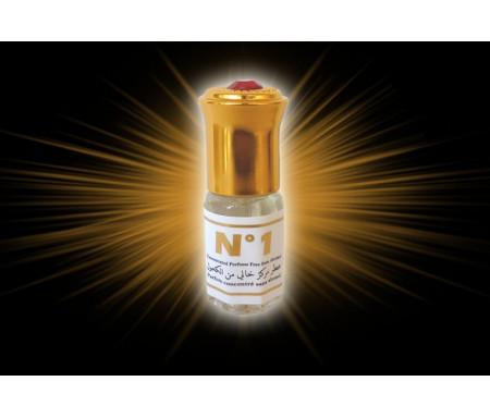"""Parfum concentré sans alcool Musc d'Or """"N°1"""" (3 ml) - Pour hommes"""