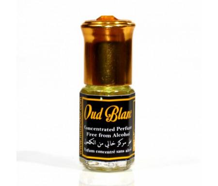 """Parfum concentré sans alcool Musc d'Or """"Oud Blanc"""" (3 ml) - Pour hommes"""
