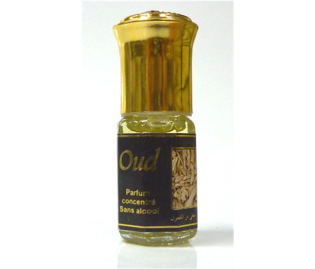 """Parfum concentré sans alcool Musc d'Or """"Oud"""" (3 ml) - Pour hommes"""