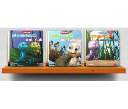 """Pack 3 livres collection """"Proche d'Allah"""" : Le rappel des invocations avec Nammûl la fourmi (à partir de 2 ans)"""