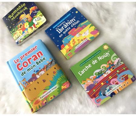 Pack 4 livres pour Enfant musulman (2-5 ans) avec pages cartonnées