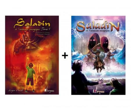 Pack Saladin et l'Anneau Magique - Tome 1 & 2 - Remonter le Temps, rencontrer l'Histoire