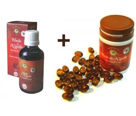 Pack Une bouteille Huile Chifa (60 ml) + Une boite de 60 capsules Chifa (500 mg)