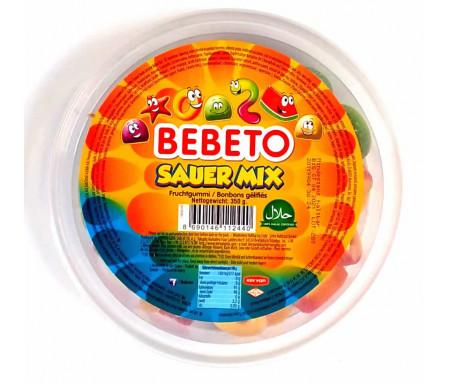 Bonbons Halal Mix (Tutti frutti) - Fabriqué avec du vrai Jus de Fruit - Bebeto - Boîte de 350gr