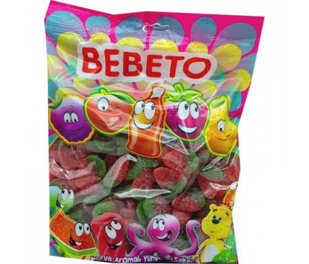Bonbons Halal Fraises sucrées au vrai jus de fruit 1kg (Format Familial) - Bebeto