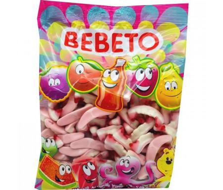 Bonbons Halal Dents de Dracula sucrées au vrai jus de fruit 1kg (Format Familial) - Bebeto