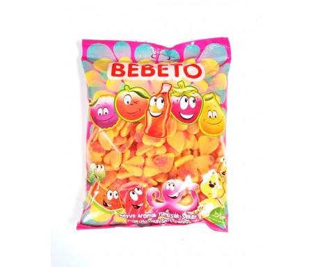 Bonbons Halal Cœur de Pêche au vrai jus de fruit 1kg (Format Familial) - Bebeto
