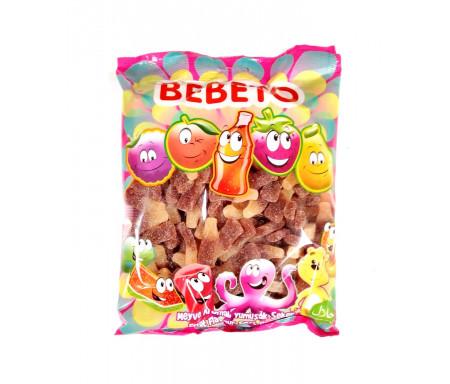 Bonbons Halal Bouteille Cola Coca acidulés au vrai jus de fruit 1kg (Format Familial) - Bebeto