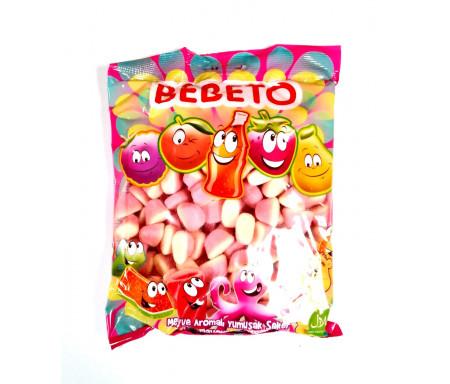 Bonbons Halal Bisous à la Fraise sucrés au vrai jus de fruit 1kg (Format Familial) - Bebeto