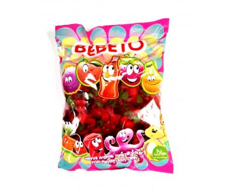 Bonbons Halal Cerises sucrées au vrai jus de fruit 1kg (Format Familial) - Bebeto