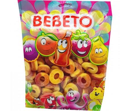 Bonbons Halal Anneau Pêche sucrés au vrai jus de fruit 1kg (Format Familial) - Bebeto