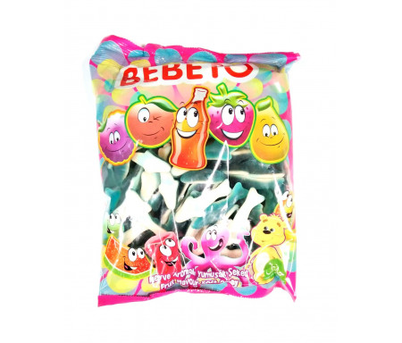Bonbons Halal Requins Tutti frutti au vrai jus de fruit 1kg (Format Familial) - Bebeto