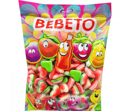 Bonbons Halal Cœur Triple au vrai jus de fruit 1kg (Format Familial) - Bebeto
