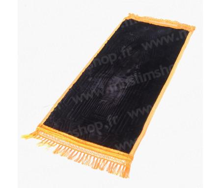 Tapis de prière pour enfant épais matelassé et confortable antidérapant et ultra-doux - Grande taille (40 x 80 cm) - Noir