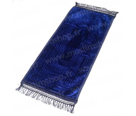 Tapis de prière pour enfant épais matelassé et confortable antidérapant et ultra-doux - Grande taille (80 x 40 cm) - BLeu