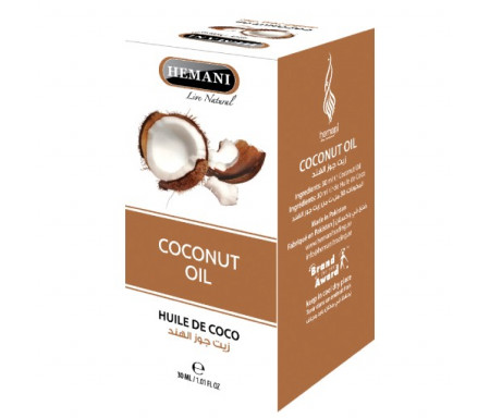 Huile de Coco pure 100% Naturelle - 30ml