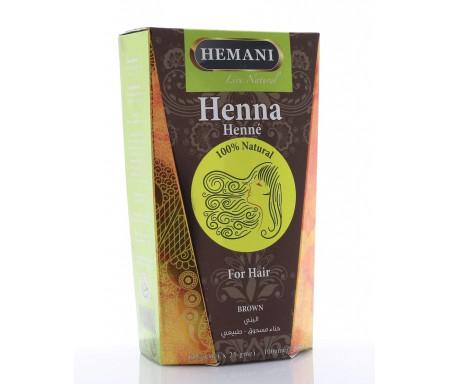 Henné Marron (Brown) pour Coloration des Cheveux 100gr (4 sachets x 25gr)