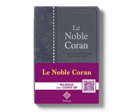 Le Noble Coran Gris + QR Codes (Audio) en Arabe et Français