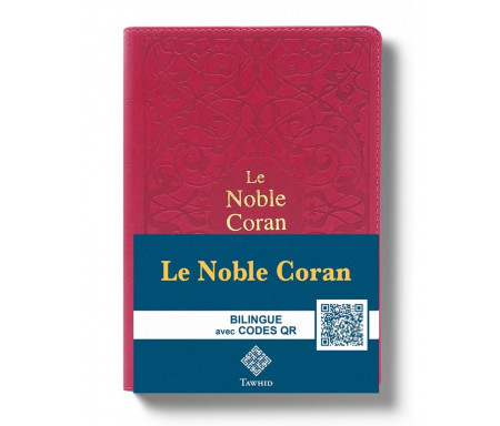 Le Noble Coran Rouge + QR Codes (Audio) en Arabe et Français