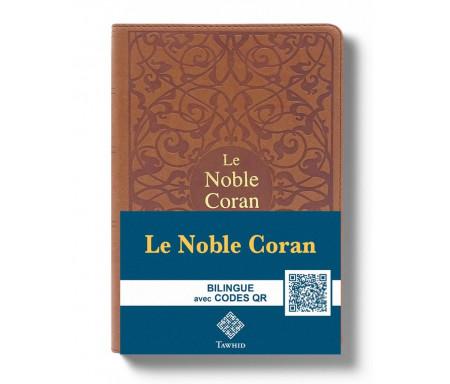 Le Noble Coran Marron + QR Codes (Audio) en Arabe et Français