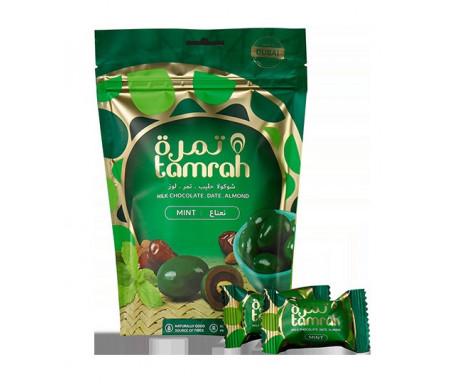 Tamrah Menthe - Dattes aux amandes enrobées de Chocolat au lait infusé à la menthe(80 g)