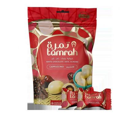 Tamrah Cappuccino - Dattes aux amandes enrobées de Chocolat blanc arôme cappuccino (80 g)