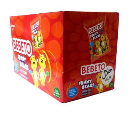 "Boite de 12 sachets de confiseries halal Bebeto ""Funny Bears"""