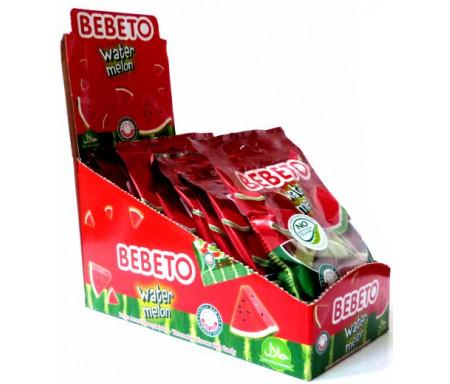 """Boite de 12 sachets de confiseries halal Bebeto """"Tranches de pastèques sucrées"""""""