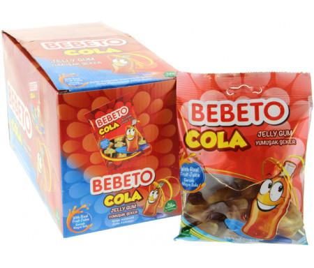 "Boite de 12 sachets de confiseries bonbons Halal Bebeto ""Drink Cola"""